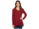 Poorboy Rib Sweater Double Layer Hem Long Sleeve  Sweater