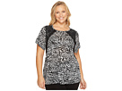 Plus Size Big Cat Lace Crew Tee