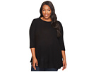 Plus Size Brushed Babydoll Hemline Knit