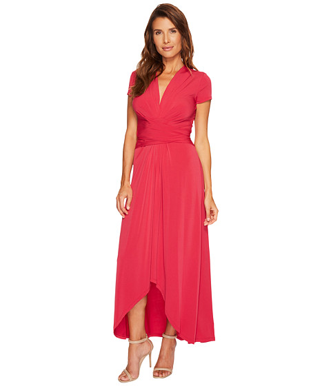 Cap Sleeve Maxi Wrap Dress