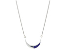"Small Crescent Pendant 18"" Necklace with Lapis"