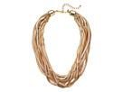 10 Row Gold Snake Chain Necklace