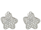 Starfish Pave Clip Swarovski Earrings