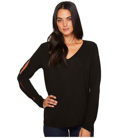 Jersey Lycra V-Neck Long Sleeve with Slit