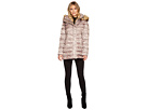 Faux Fur Hooded Down with Contrast Piping N8791